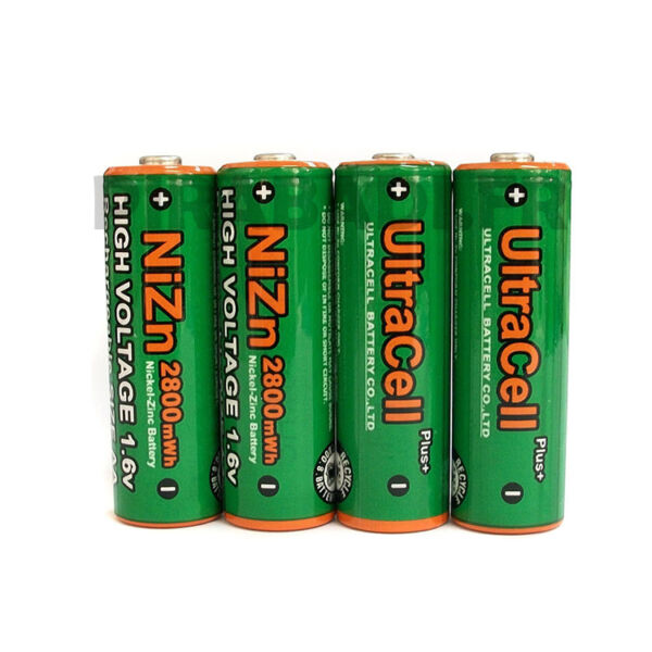 4 ACCUS AA LR06 PILES RECHARGEABLE 1.6V NI-ZN 2800mWh POWERGENIX • REMPLACE 1.2V
