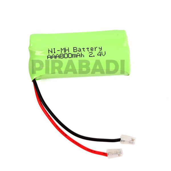 PACK 2 PILE BATTERIE ACCU 2.4V AAA RECHARGEABLE 800mAh NI-MH NIMH