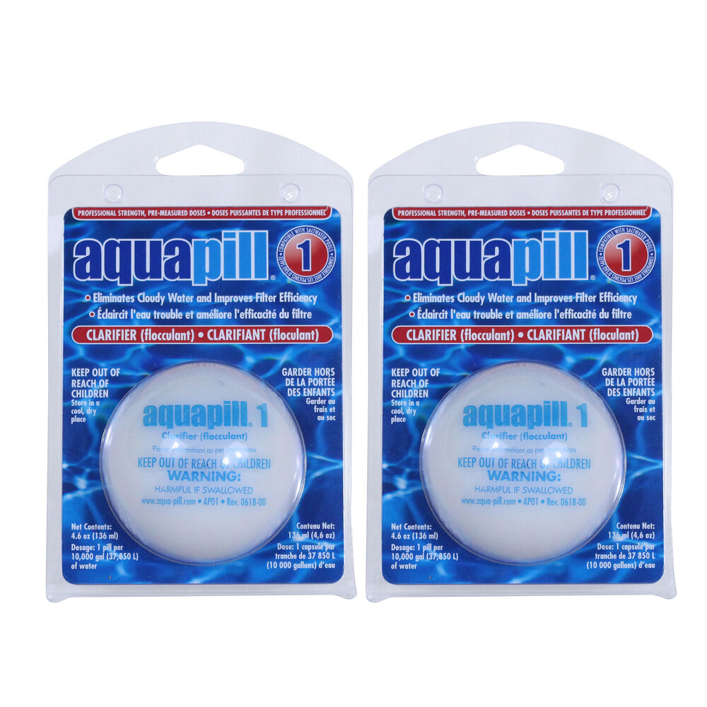 Aqua Pill 1 Swimming Pool Water Clarifier & Flocculant Chemical - 2 Pack  34261200572 | eBay