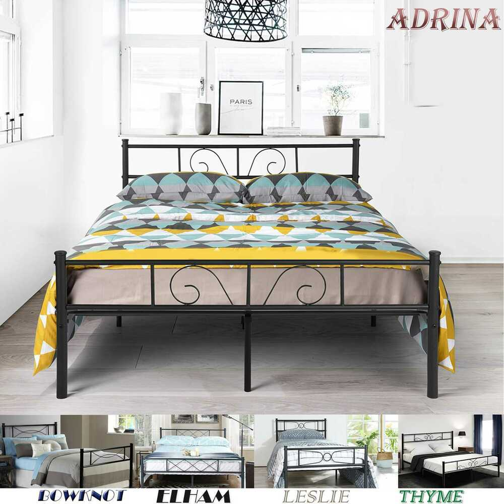 dresser bed frame platform metal bed frame foundation headboard furniture 11475