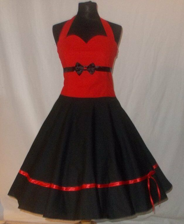 petticoat kleid 50er jahre rockabilly abendkleid 38 40 rot. Black Bedroom Furniture Sets. Home Design Ideas