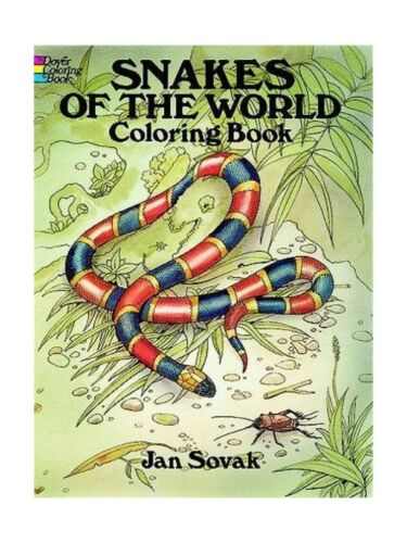 Snakes of the World Coloring Book (Dover Nature Coloring Book) Free Shipping