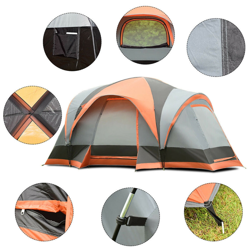 Outdoor Canopy Tent Screen House 12 Person Cabin Porch