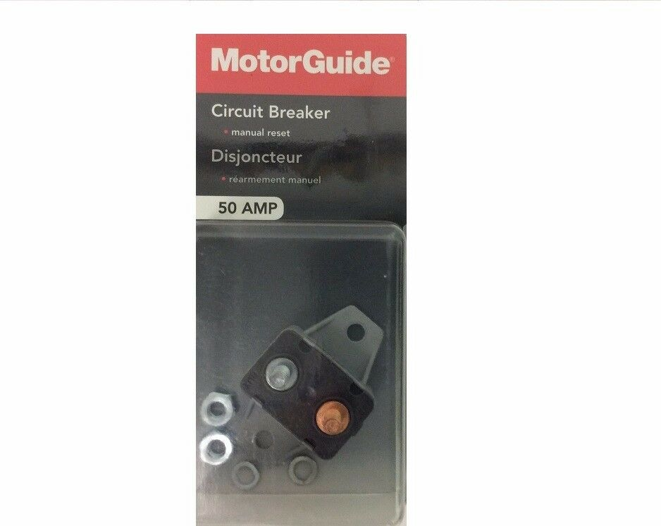 Motorguide mm5870 50 amp manual reset breaker ebay for 50 amp circuit breaker for trolling motor