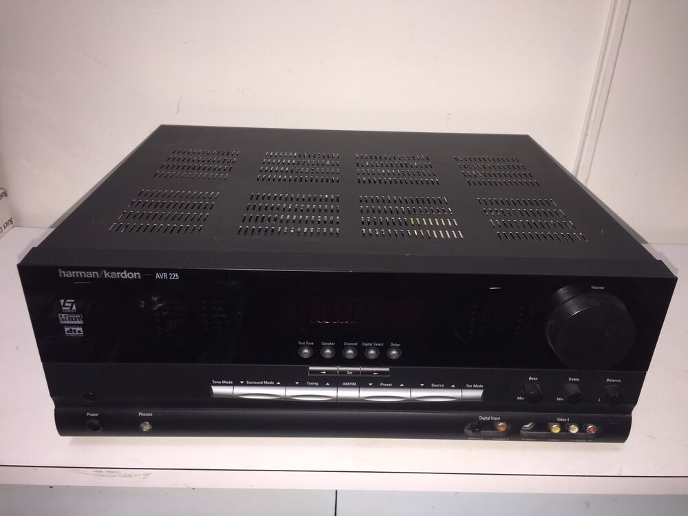 harman kardon avr 225 5 1 channel 275 watt av receiver. Black Bedroom Furniture Sets. Home Design Ideas