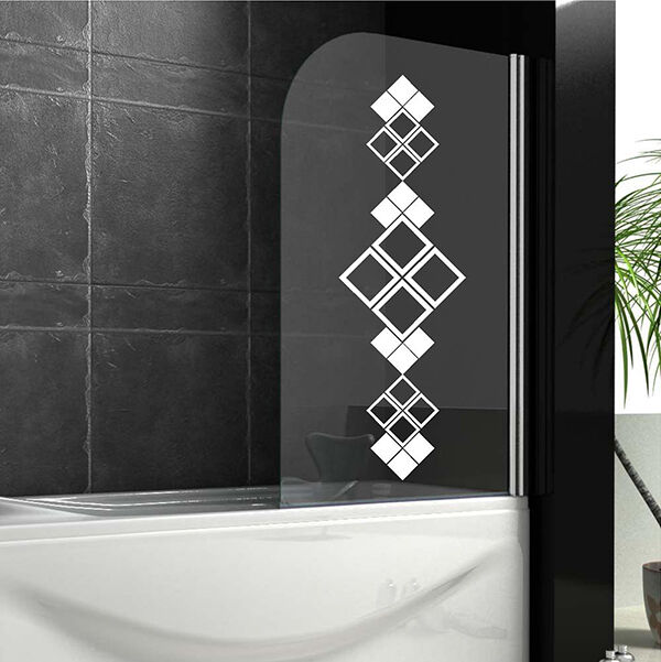 Bathroom Wall Stickers ORNAMENT Shower Screen Stickers