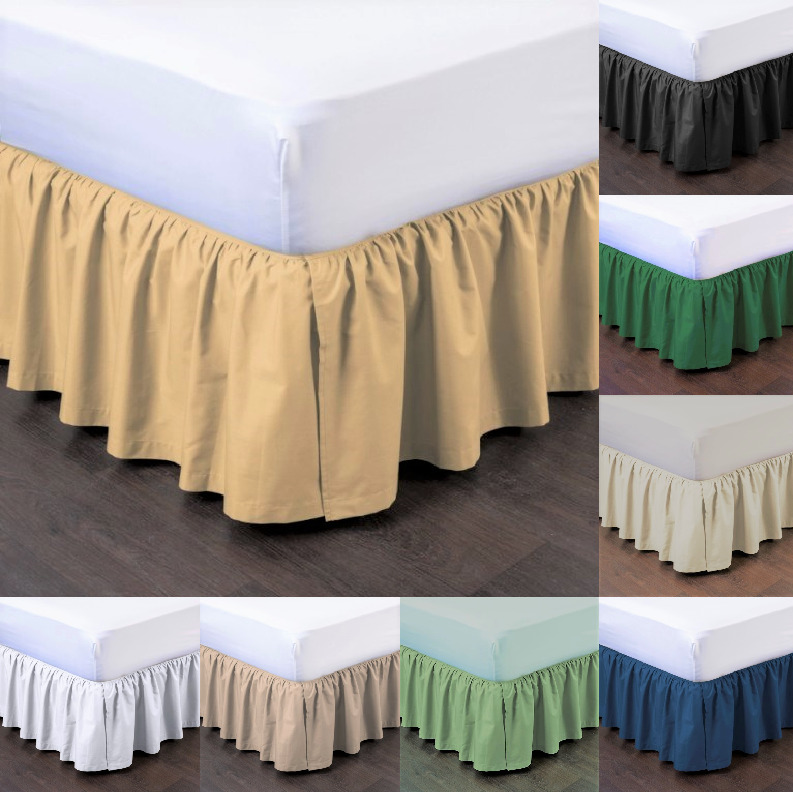 1pc Bedding Dressing Bed Pleated Skirt With Open Corners 14 Quot Inch Drop Size Full Ebay