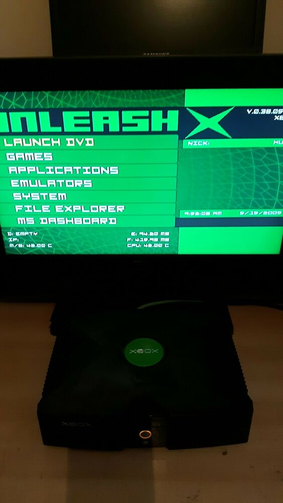 Original Xbox Replacement Console Only Modified Emulators Roms Ebay