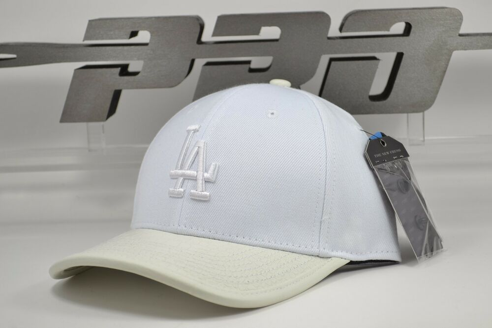 6969faf313f Details about Los Angeles Dodgers WOW WhiteOnWhite Curved Brim Strapback  Pro Standard MLB Hat