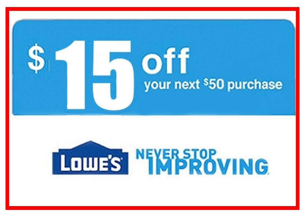 This is an image of Handy Lowes 50 Off 250 Printable Coupon