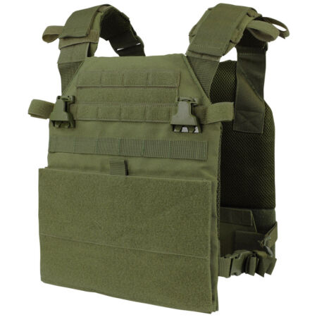 img-Condor Vanquish Plate Carrier Army Patrol Military Combat MOLLE Vest Olive Drab