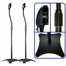 2/Two Black Floor Speaker Stands for Home Theater Surround Sound Satellite Mount