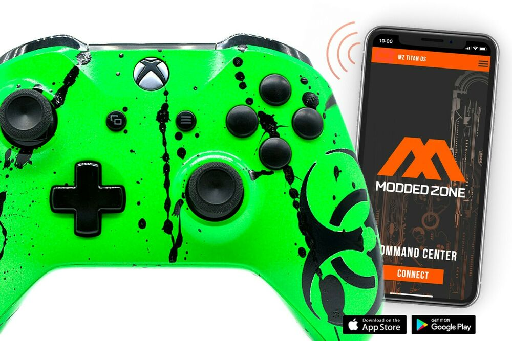 """""""Toxic Green"""" Xbox One S Rapid Fire Modded Controller, COD ..."""