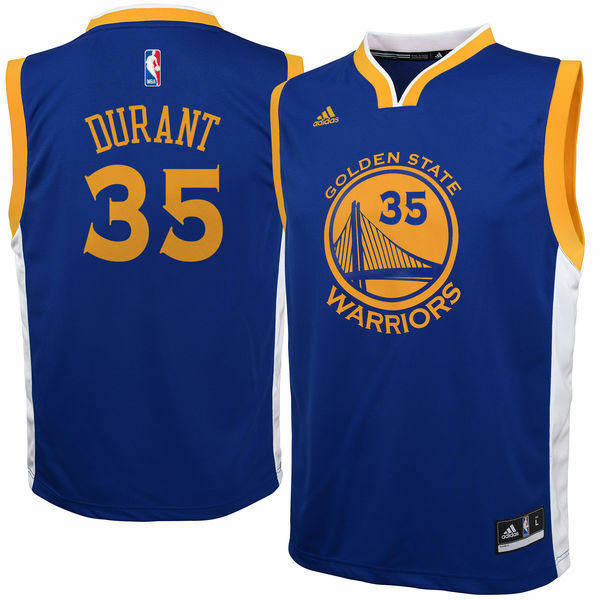 a16b6da3402 Kevin Durant Golden State Warriors Adidas NBA Road Blue Replica YOUTH  Jersey
