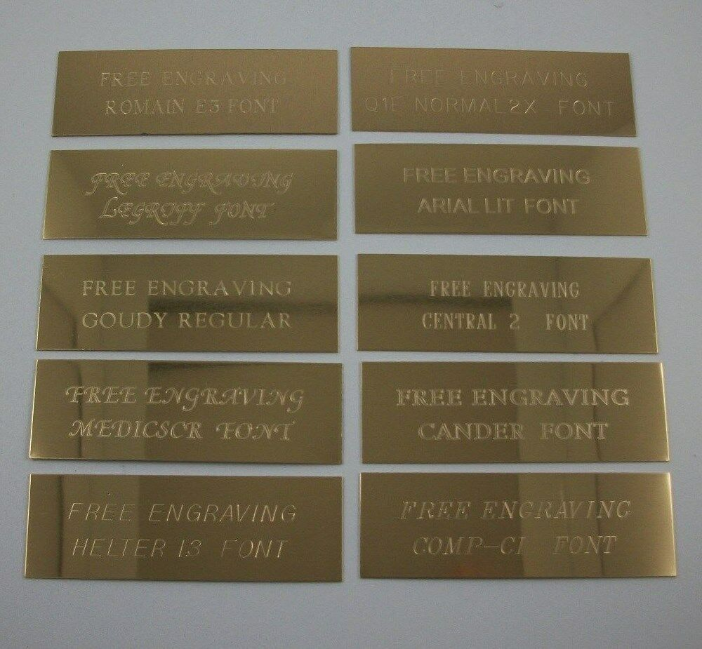 custom engraved 6quot x 1quot brass trophy sign name plate ebay