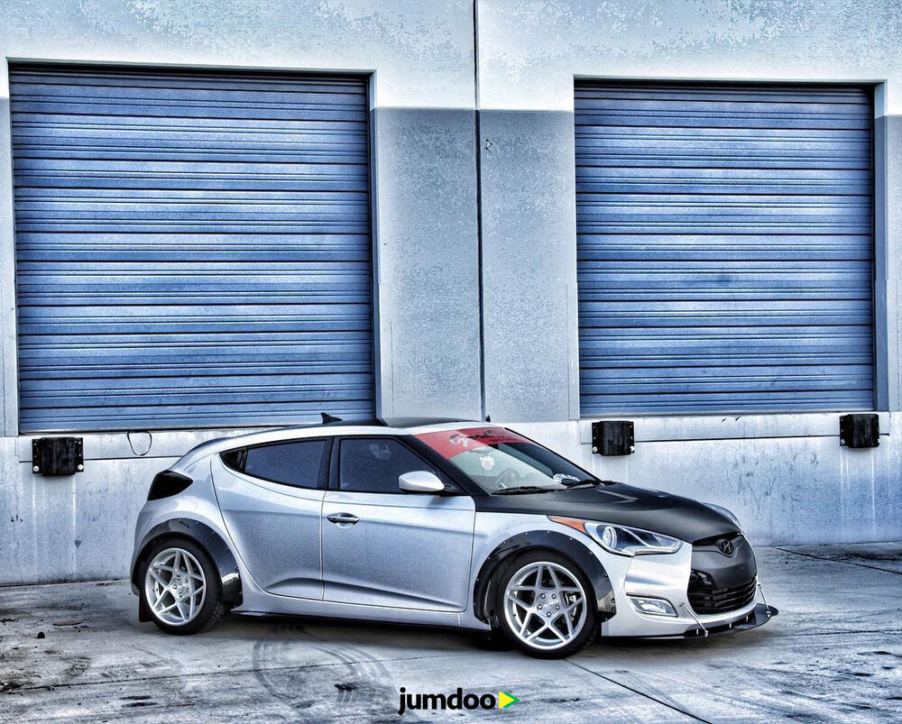 Galatea Automobiles Hyundai Coupe Kit Car Bodykit: Hyundai Veloster Fender Flares CONCAVE Wide Body Kit 70mm