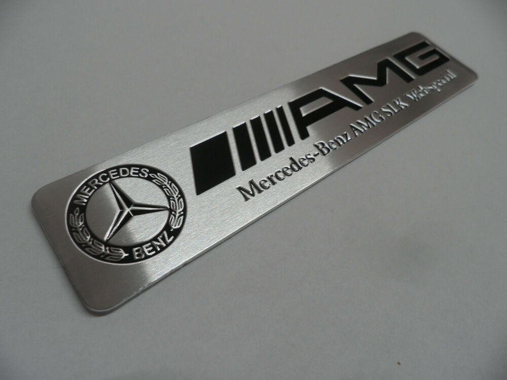 amg alu plakette 3d metall sticker aufkleber emblem. Black Bedroom Furniture Sets. Home Design Ideas