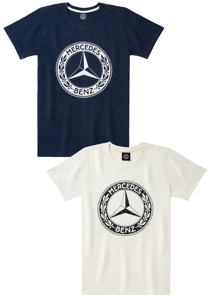 Mercedes benz men 39 s classic t shirt ebay for Mercedes benz clothes and accessories