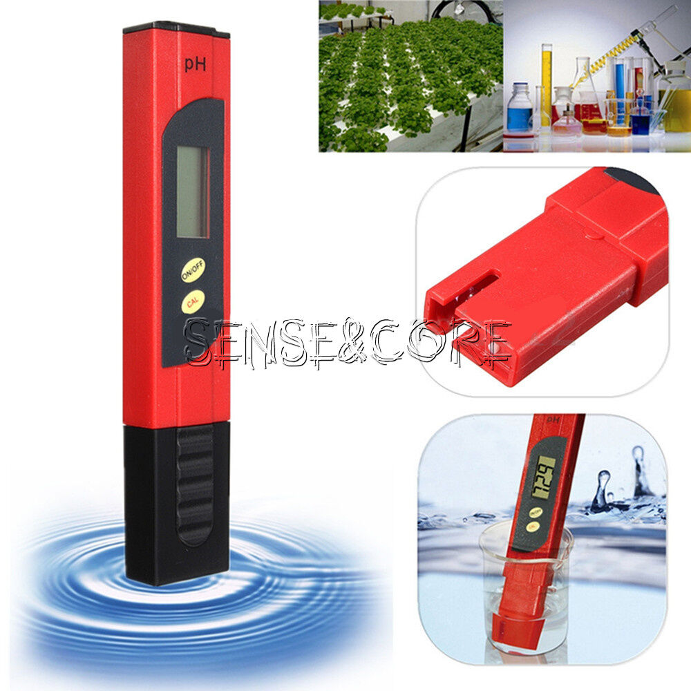 lcd ph wert wasser messger t messer tester meter aquarium pool pr fer 0 14 red ebay. Black Bedroom Furniture Sets. Home Design Ideas
