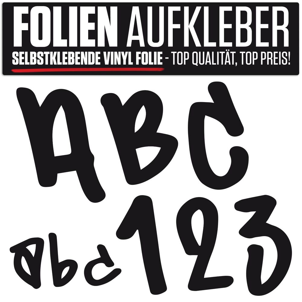 a4 bogen aufkleber folie buchstaben zahlen graffiti beschriftung modellbau ebay. Black Bedroom Furniture Sets. Home Design Ideas