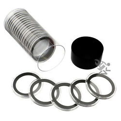 Kyпить Black Capsule Tube & 20 Air-Tite 38mm Black Ring Coin Holders for Silver Dollar на еВаy.соm