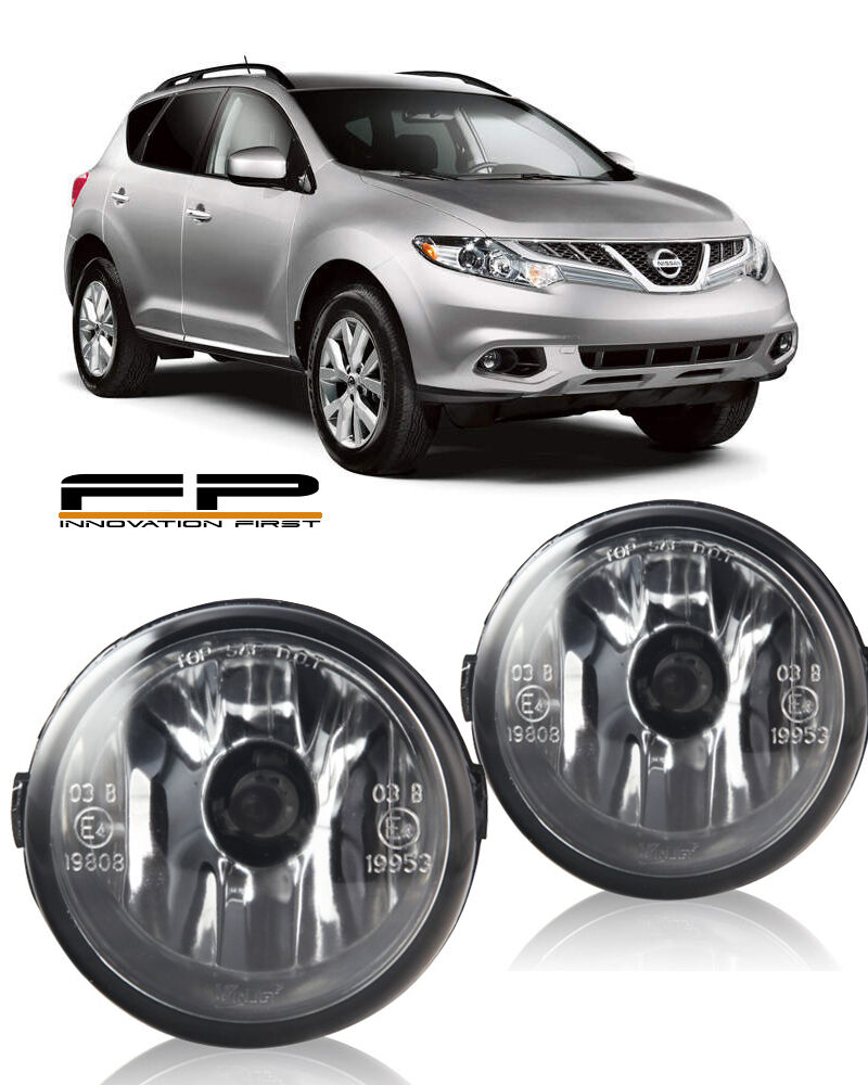 For 2009 2013 Nissan Murano Clear Lens Replacement Fog