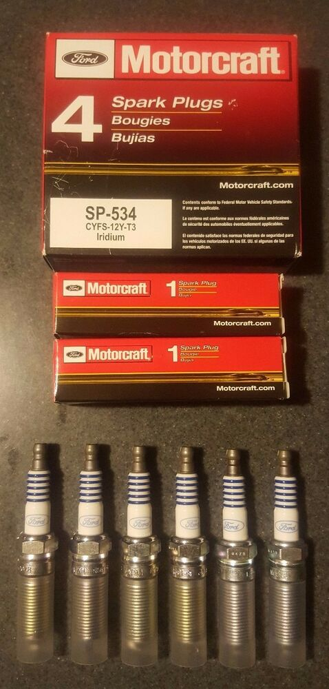 Buy Car Usa >> Set of 6: Motorcraft OEM Ford Iridium Spark Plugs SP-534 CYFS-12Y-T3 USA Seller | eBay