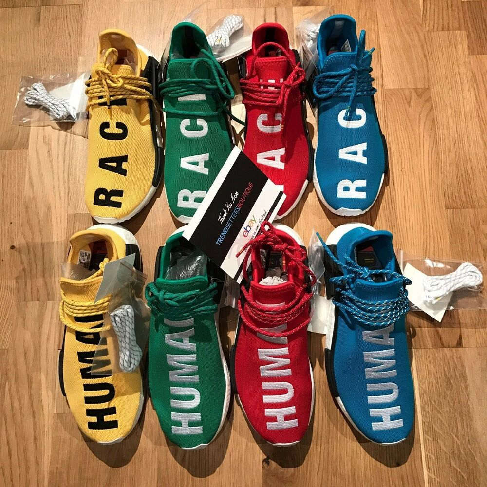 7d93c4b11 Details about ADIDAS HU NMD PHARRELL HUMAN RACE UK 8.5 9 SAMPLE FRIENDS    FAMILY OG YELLOW