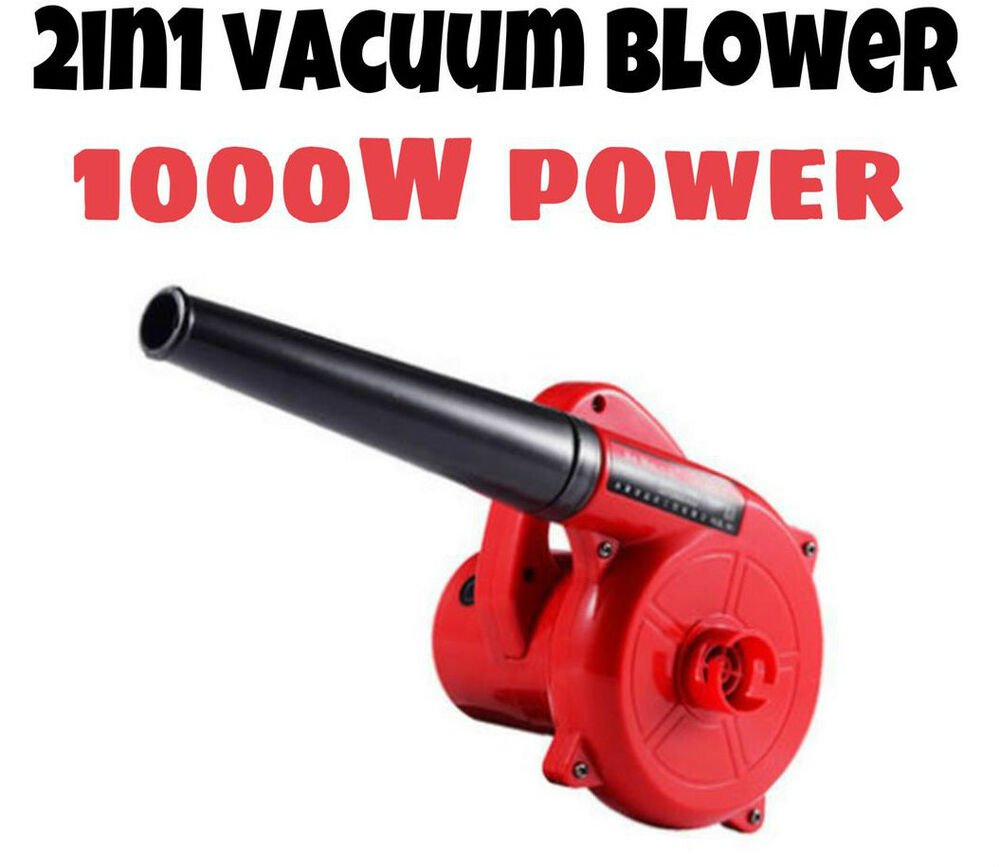 1000w 2in1 electric air dust blower vacuum leaf construction builder car garden ebay. Black Bedroom Furniture Sets. Home Design Ideas