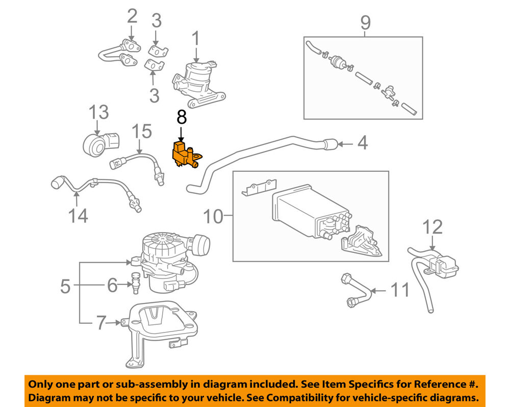 Toyota Oem Fj Cruiser Vapor Canister Vacuum Purge Solenoid Switch Wiring Diagram Together With 1994 22re 90910ac001 Ebay