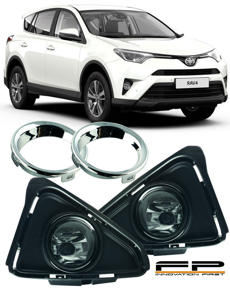 for 2016 2017 toyota rav4 clear lens fog lights lamp