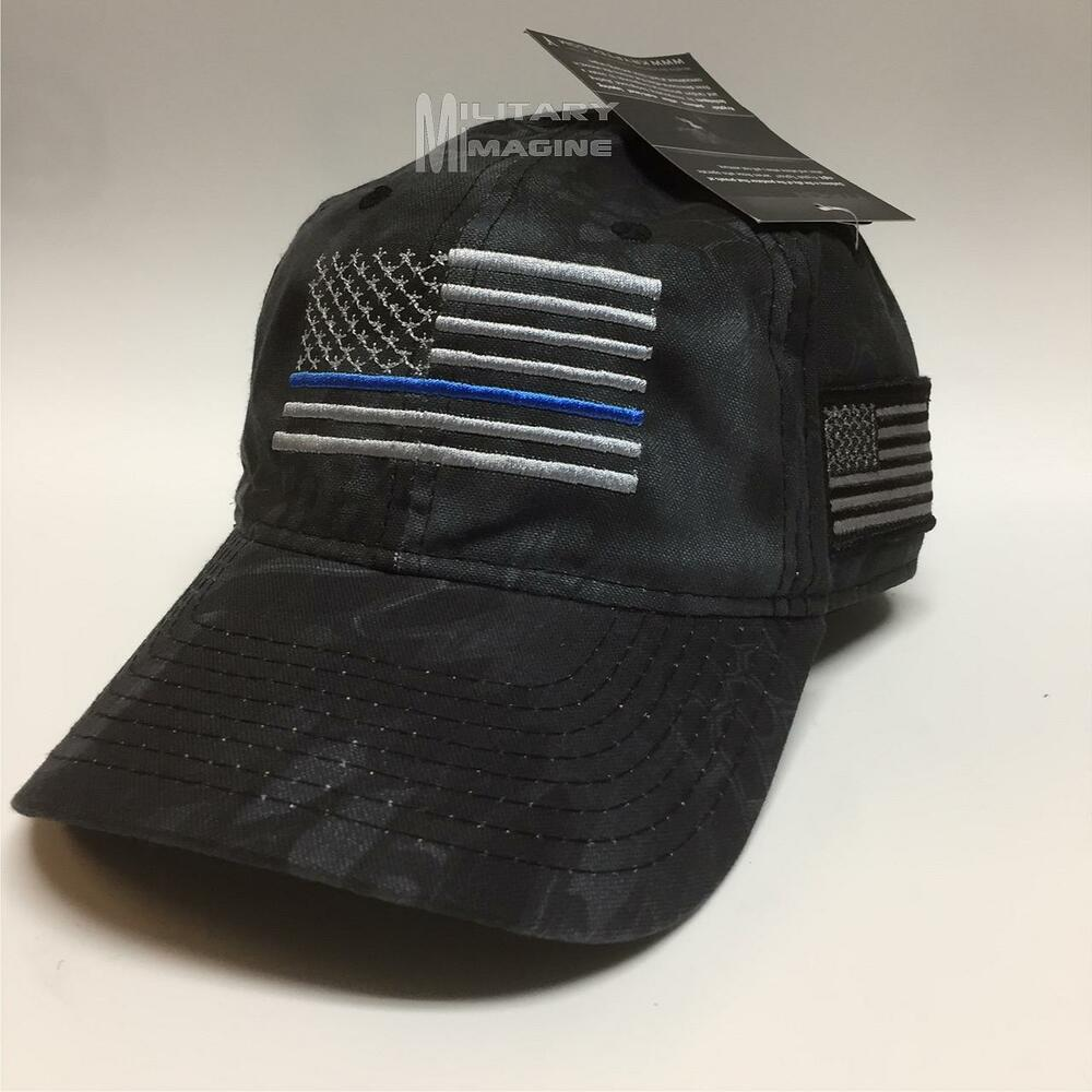 Details about Thin Blue Line Gray Flag KRYPTEK Typhon American Flag Cap Hat  Law Enforcement 83ba11f5c62