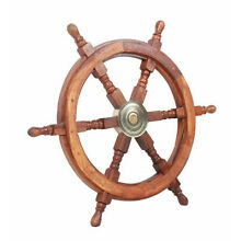 Teak Ship's Steering Wheel 24