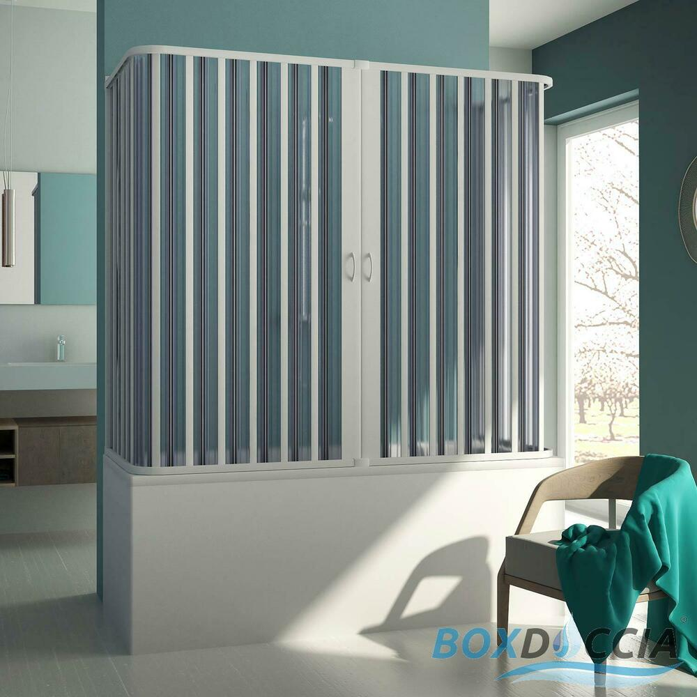 duschkabine badewannen aufsatz 3 seitig pvc 70x140x70 cm schiebet r h150 ebay. Black Bedroom Furniture Sets. Home Design Ideas