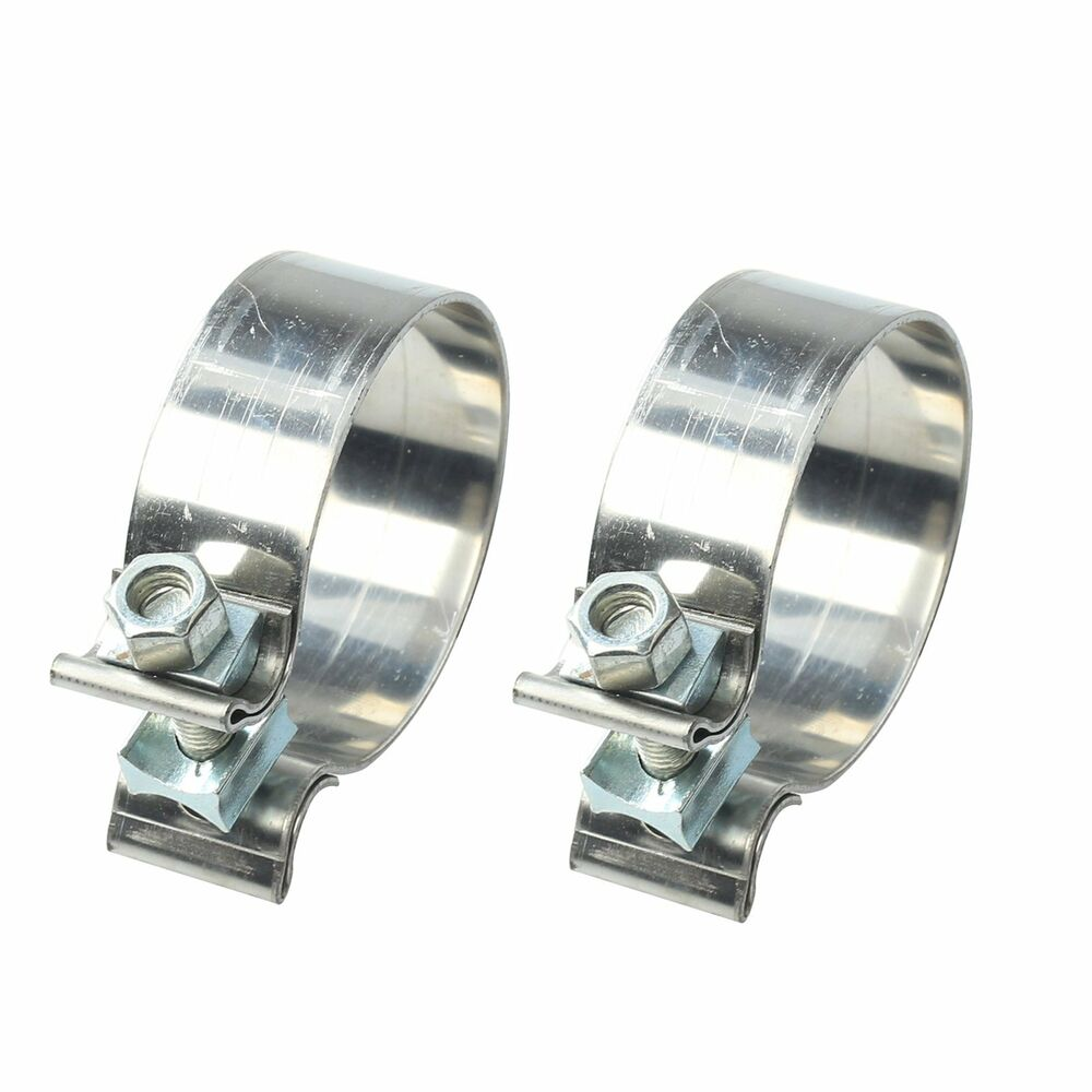 "2PCS 3"" Stainless Steel Narrow Band Exhaust Clamp Round ..."