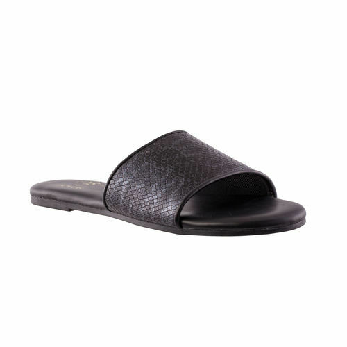 3e55a5cac102 Details about Yosi Samra Women Reese Slip On Slide Muted Black Snake Sandals  Shoes Sz 7 8 9 10