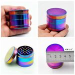 4 Piece Herb/Spice/Weed Alloy Smoke Crusher 40mm Tobacco Grinder Colourful Hot