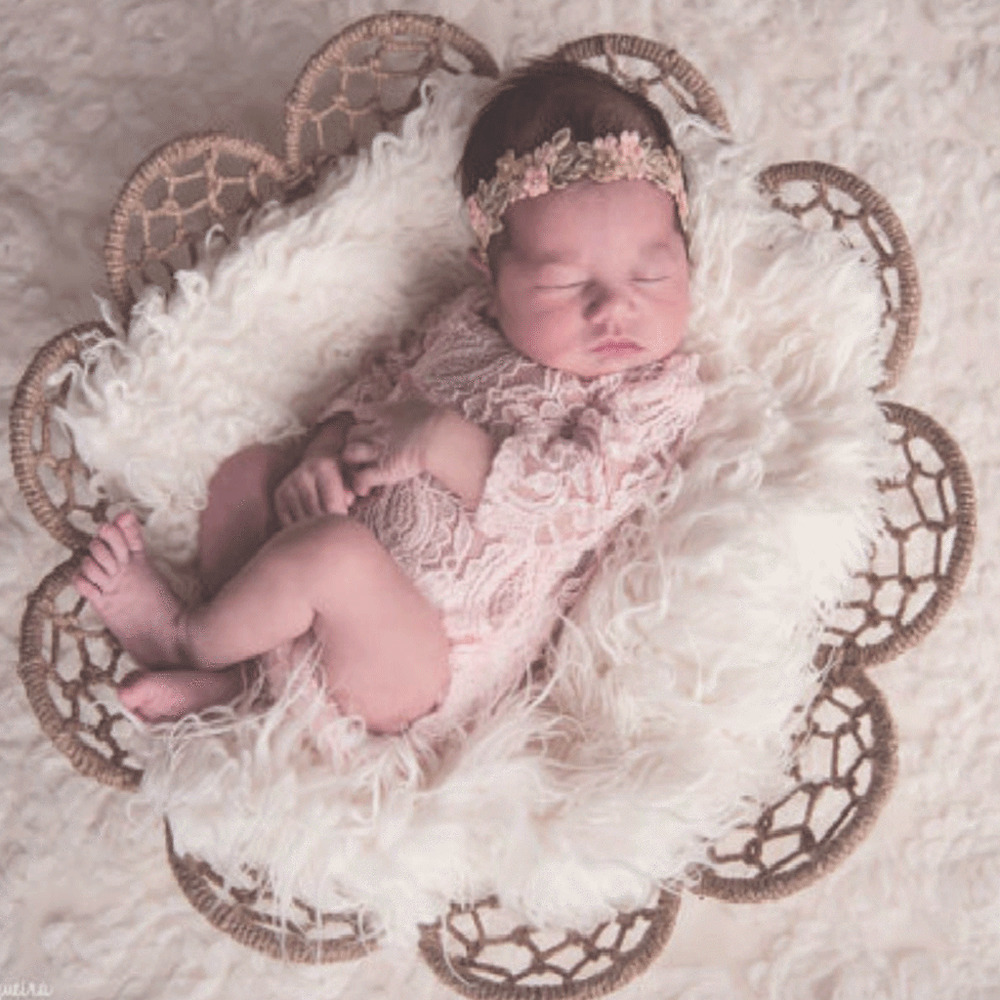 0016da75848e Details about Newborn Baby Girl Long Sleeved Ribbon Lace Bow Romper  Jumpsuit Photography Props