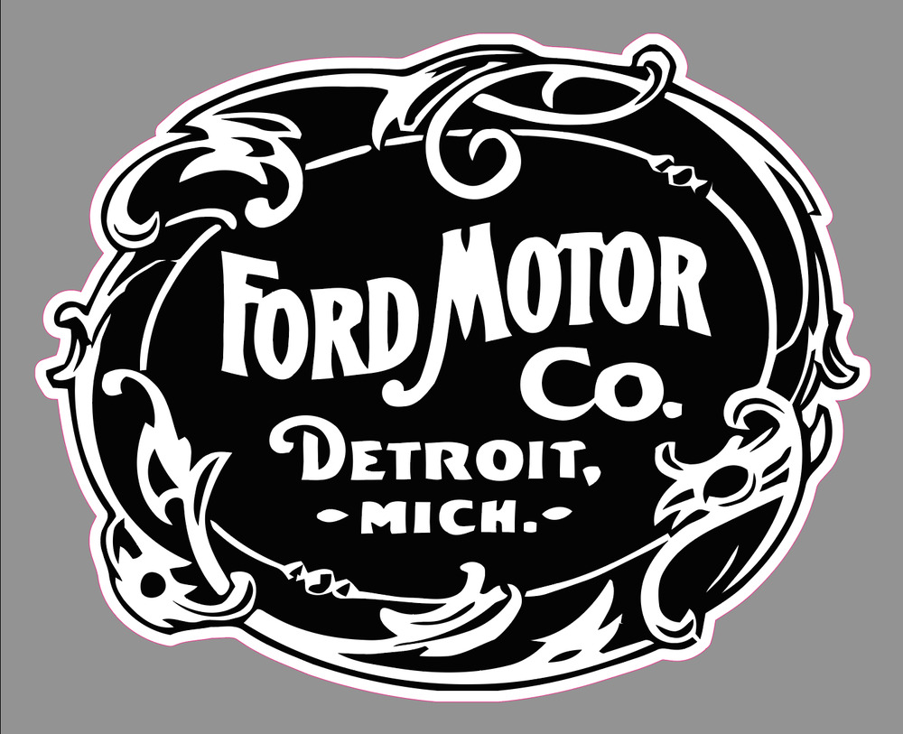 Old Ford Trucks Decals : Vintage ford motor company logo premium vinyl decal