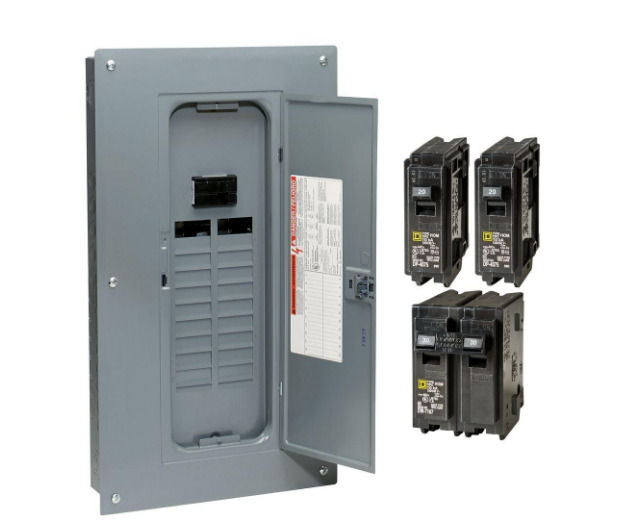 circuit breaker box panel electrical 100 amp 20 space. Black Bedroom Furniture Sets. Home Design Ideas