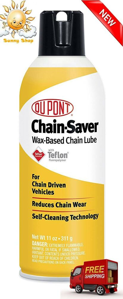 Dupont Teflon Chain Saver Lubricant 11 Oz Motorcycle Dirt