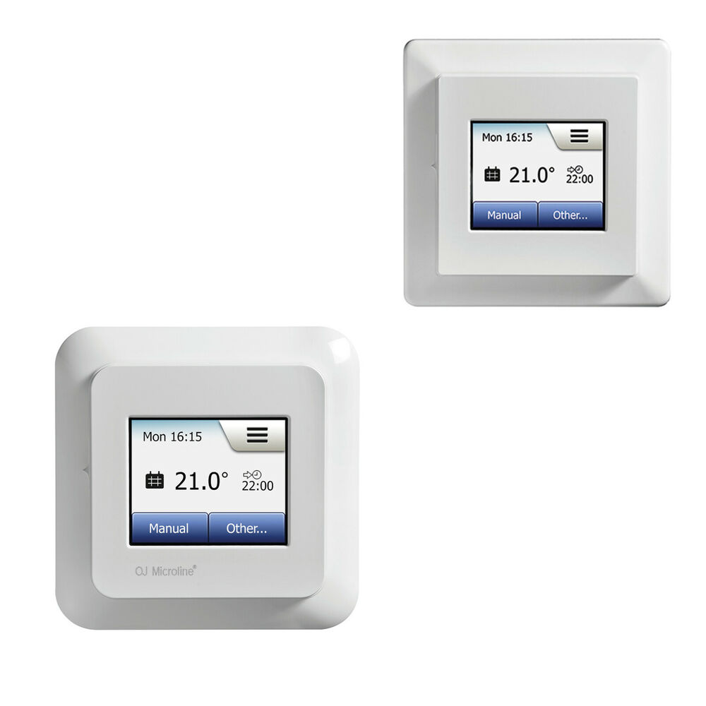 digital thermostat touchscreen fu bodenheizung raumthermostat programmierbar ebay. Black Bedroom Furniture Sets. Home Design Ideas