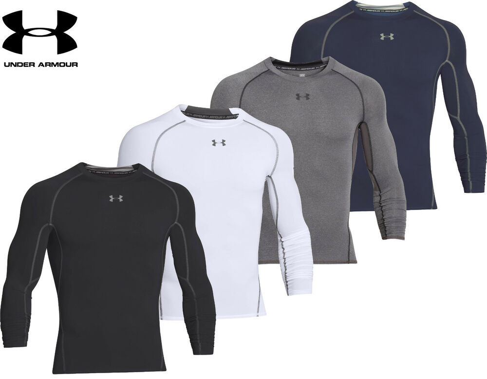 af41432f Details about Mens Under Armour Compression Shirt HeatGear Armour Long  Sleeve Top 1257471 NEW