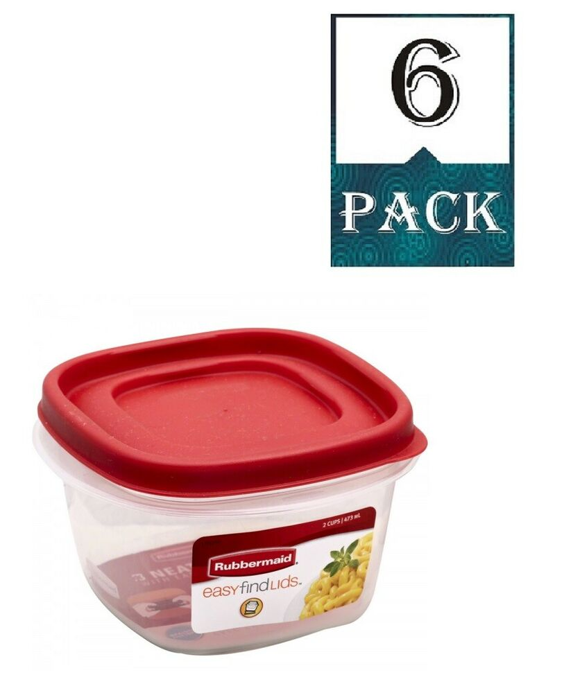 Rubbermaid 7j60 Easy Find Lid Square 2 Cup Food Storage
