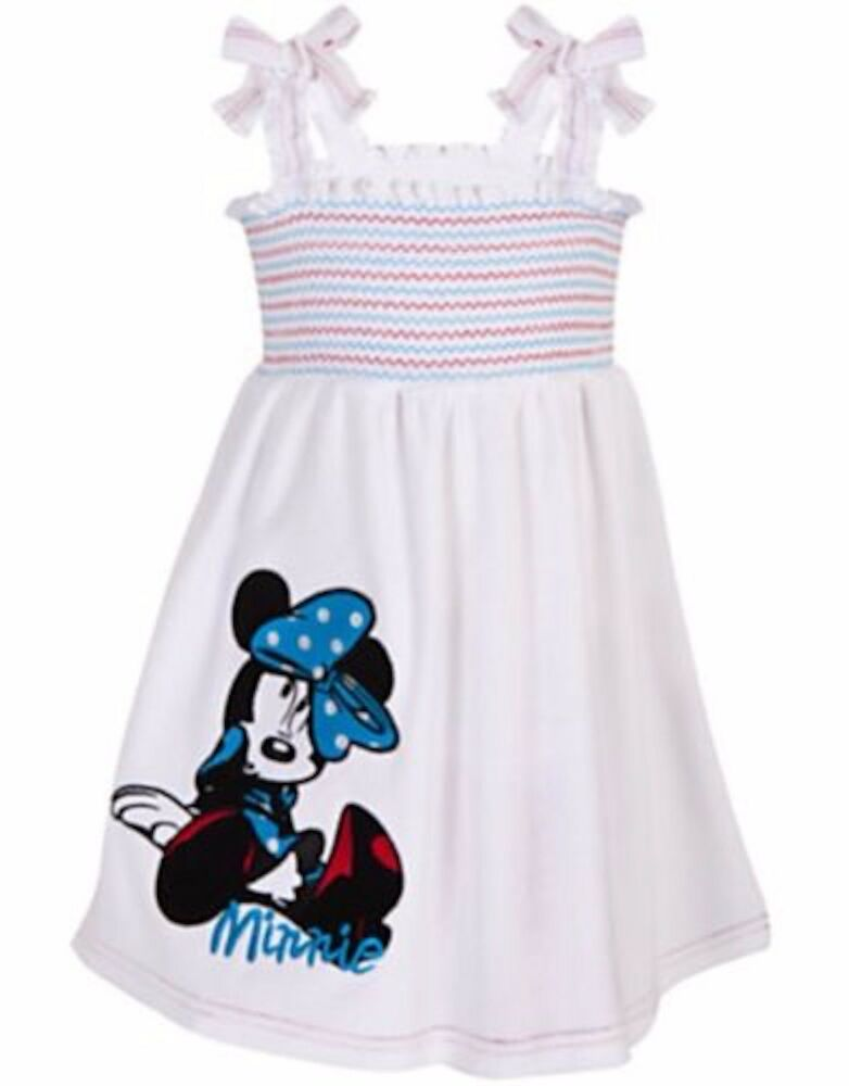 787d3ca17 Details about Disney Store Smocked Minnie Mouse Terrycloth-Swimsuit Cover  Up Swim Dress Towel