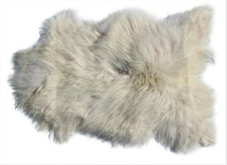 Genuine Icelandic Sheepskin Rug Throw Shade Of White Ebay