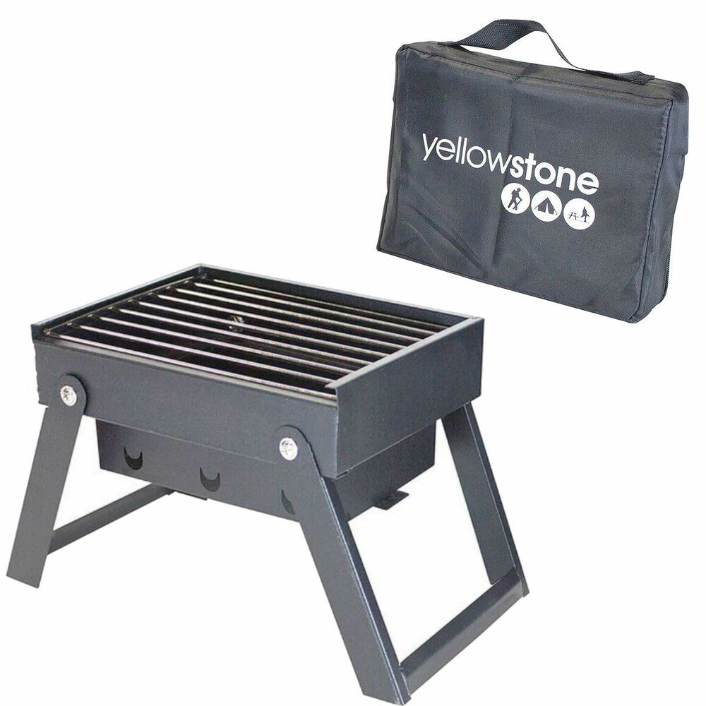 yellowstone mini folding portable bbq barbeque picnic travel camping grill 5026390028702 ebay. Black Bedroom Furniture Sets. Home Design Ideas