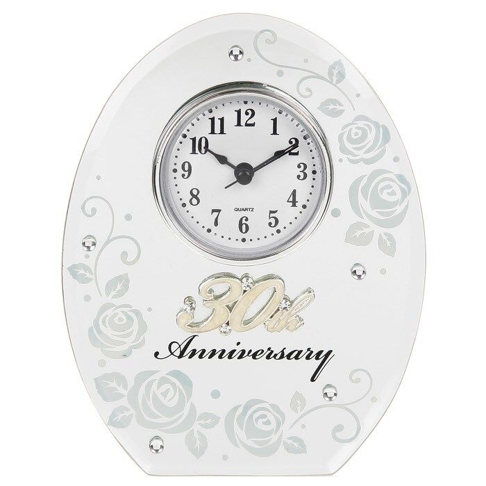 Wedding Anniversary Gifts 30 Years: 30th Wedding Anniversary Clock 30 Years Of Marrage Pearl