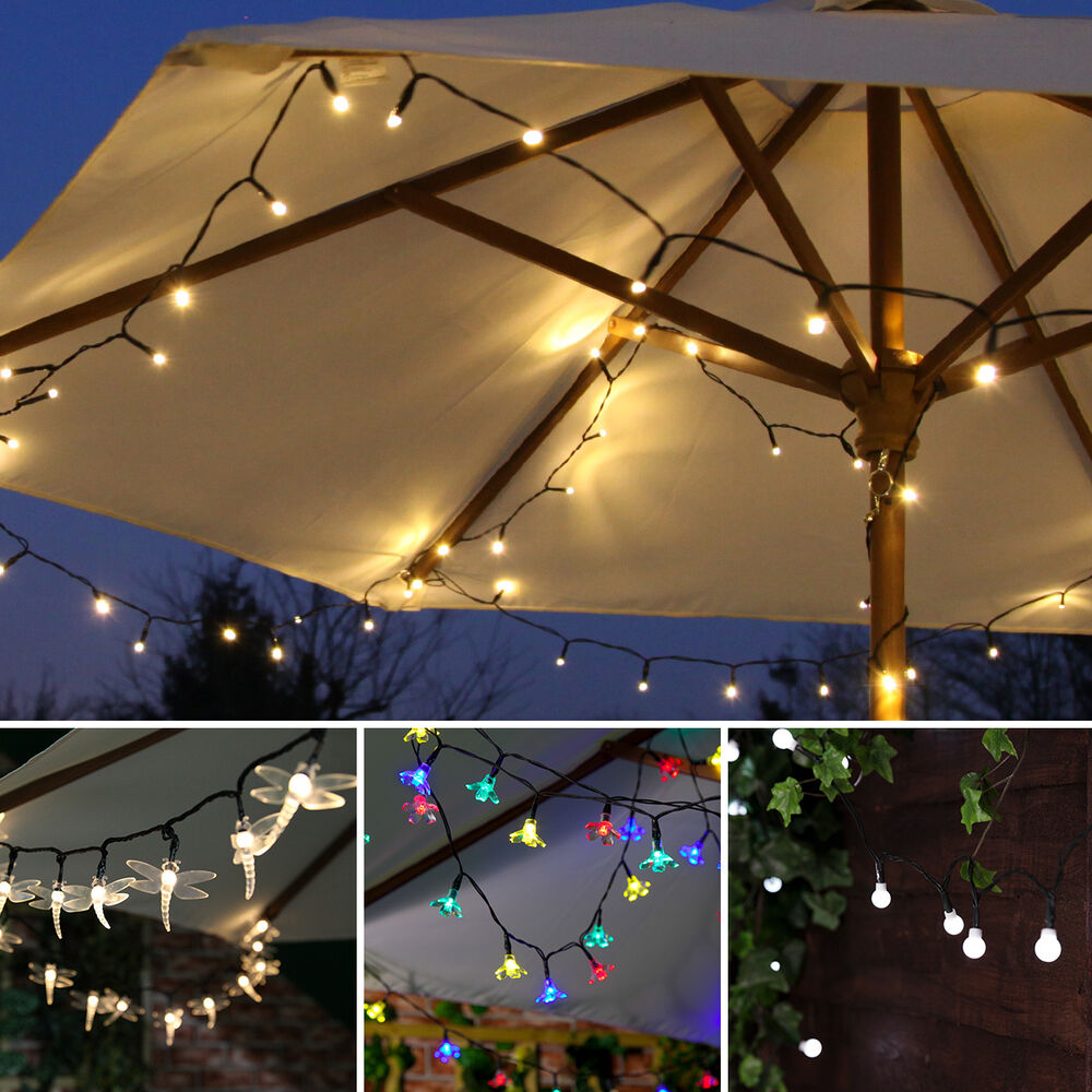 Outdoor Party Lights Solar: Solar Power Outdoor LED Fairy Party Lights