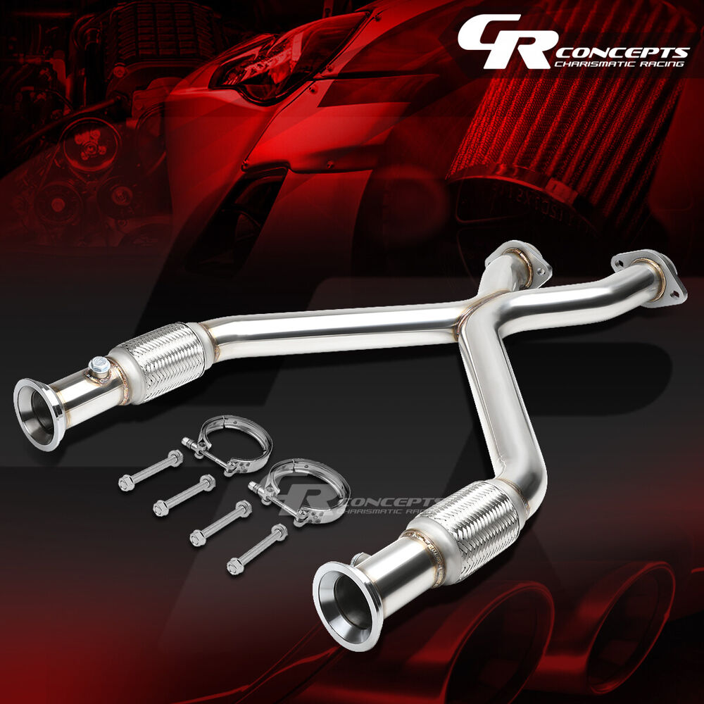 Details about 2 25 stainless racing cross x pipe exhaust for 96 04 ford mustang sn 95 4 6l v8